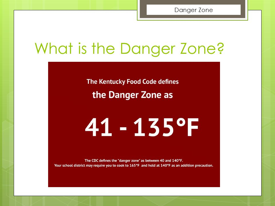 What is the Danger Zone Danger Zone