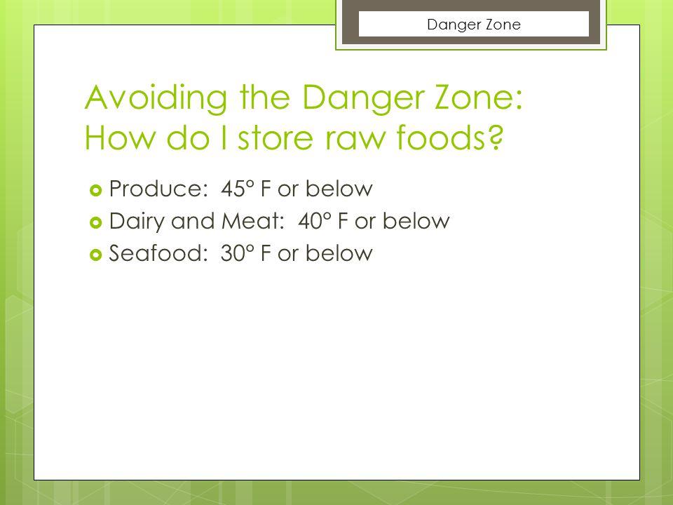 Avoiding the Danger Zone: How do I store raw foods