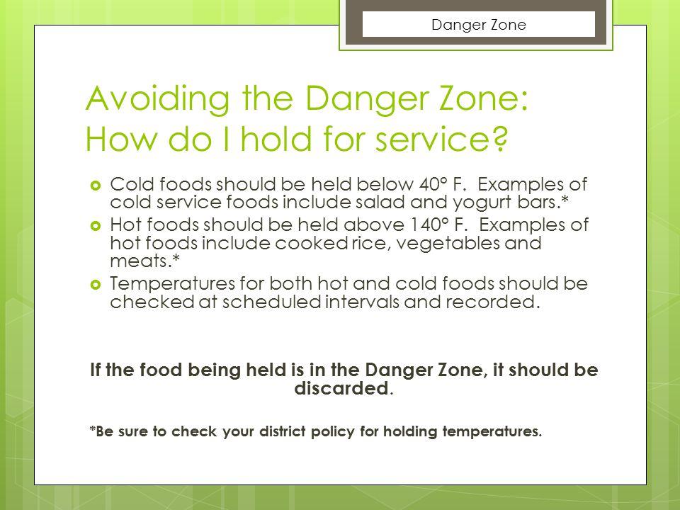 Avoiding the Danger Zone: How do I hold for service