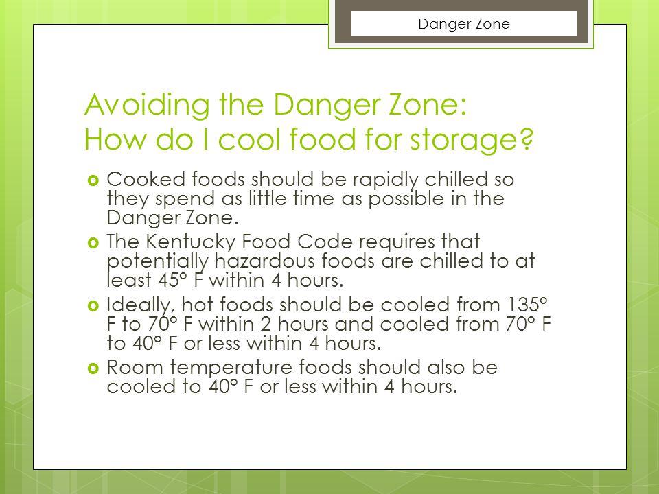 Avoiding the Danger Zone: How do I cool food for storage