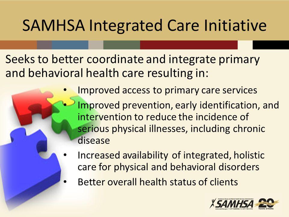 SAMHSA Integrated Care Initiative