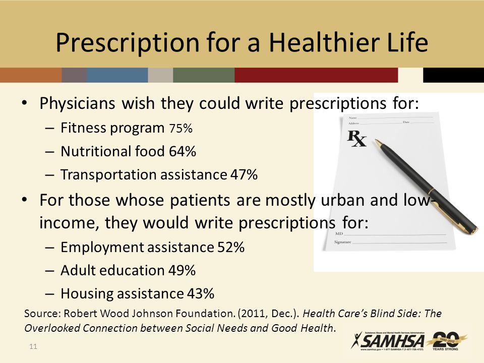 Prescription for a Healthier Life