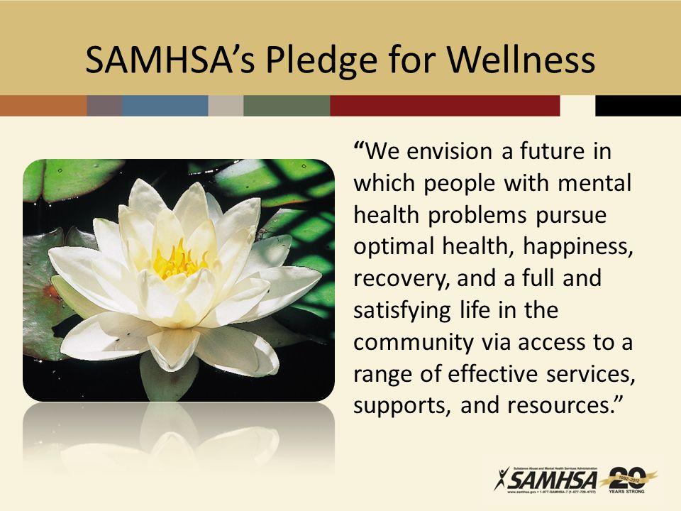 SAMHSA's Pledge for Wellness