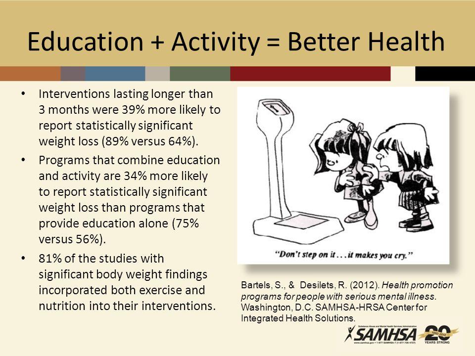 Education + Activity = Better Health