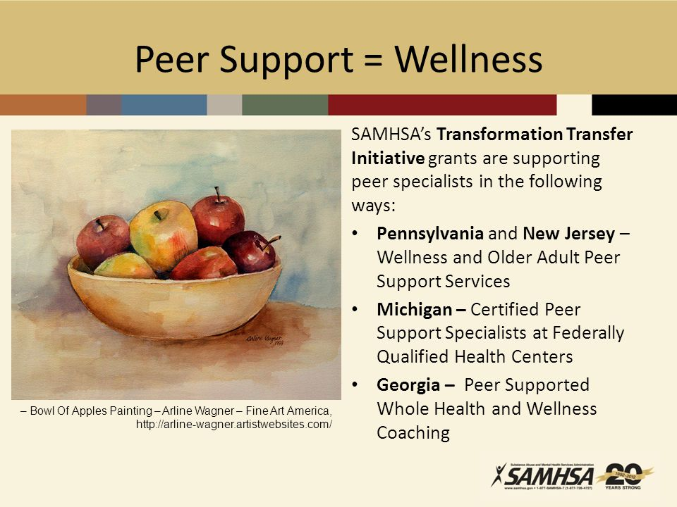 Peer Support = Wellness