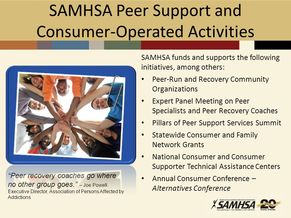 SAMHSA Peer Support and Consumer-Operated Activities