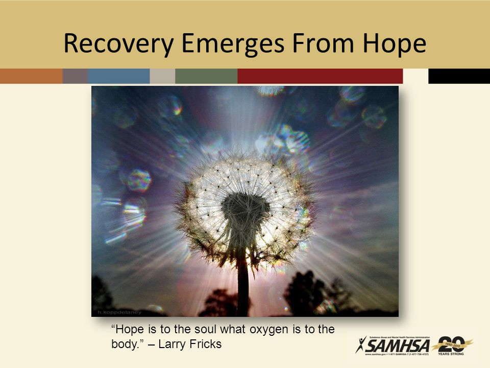 Recovery Emerges From Hope
