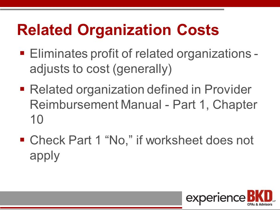 Related Organization Costs