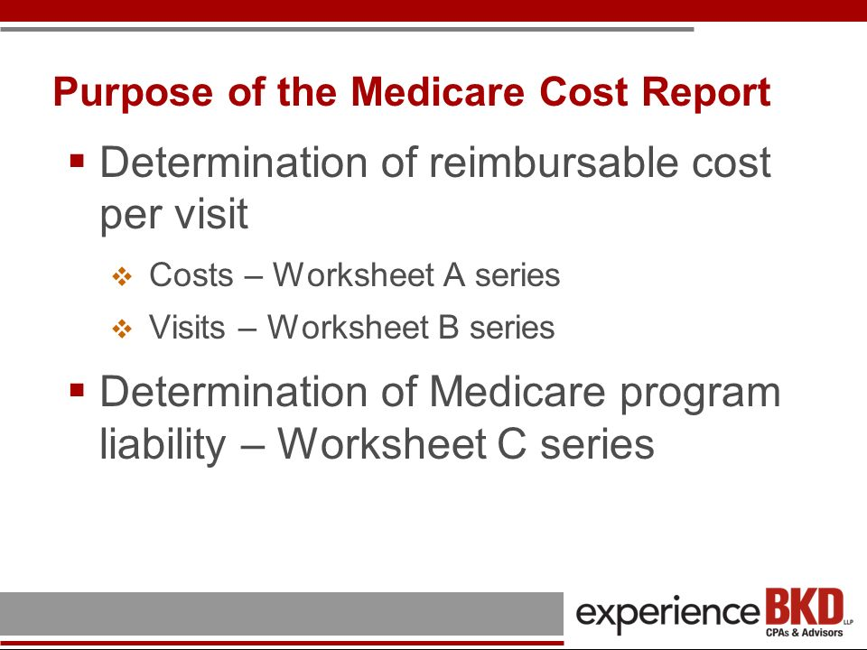 Purpose of the Medicare Cost Report