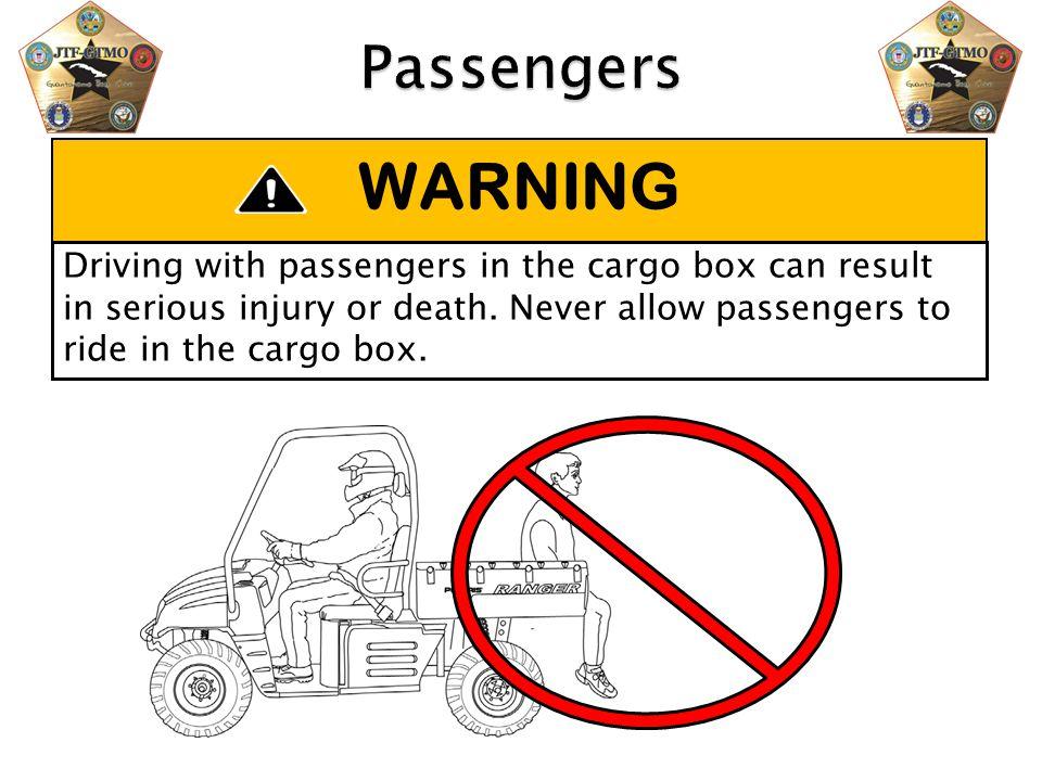 Passengers WARNING.