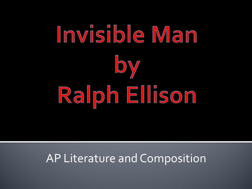 """literary devices in invisible man by ralph ellison Another major literary device ralph ellison uses in the invisible man is allusions in the epilogue, the narrator says he is sometimes urged to return to the """"heart of darkness"""" this is an allusion to the novel by joseph conrad, heart of darkness."""