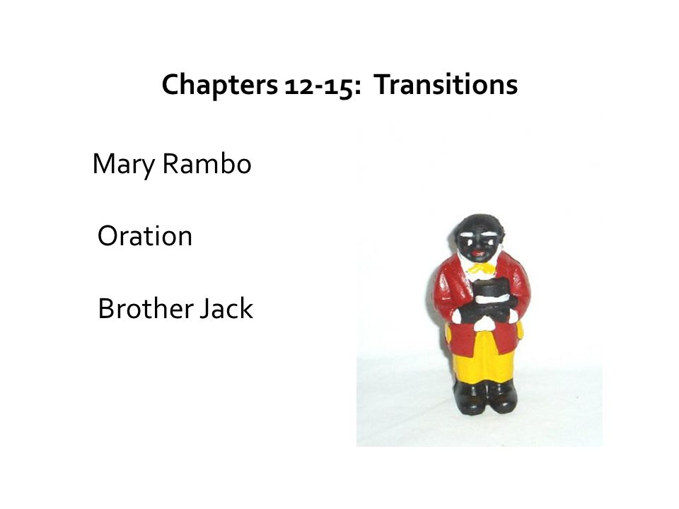 Chapters 12-15: Transitions