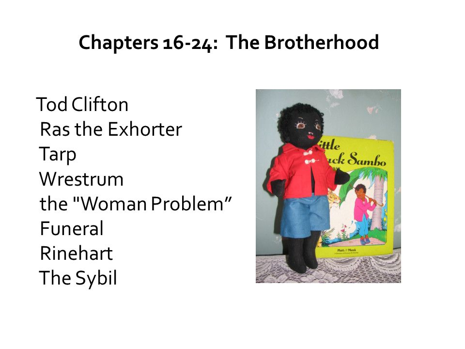 Chapters 16-24: The Brotherhood