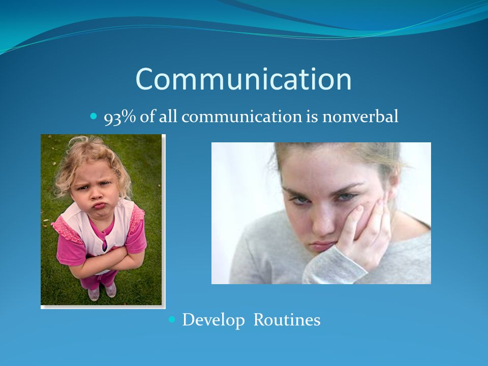 93% of all communication is nonverbal