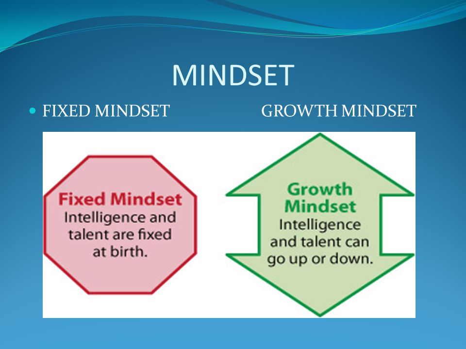 MINDSET FIXED MINDSET GROWTH MINDSET
