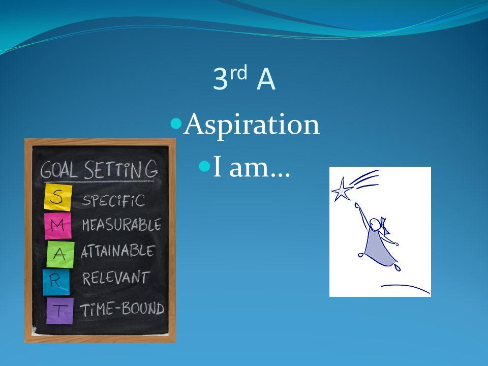 3rd A Aspiration I am…