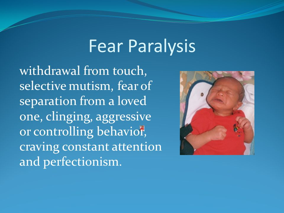 Fear Paralysis