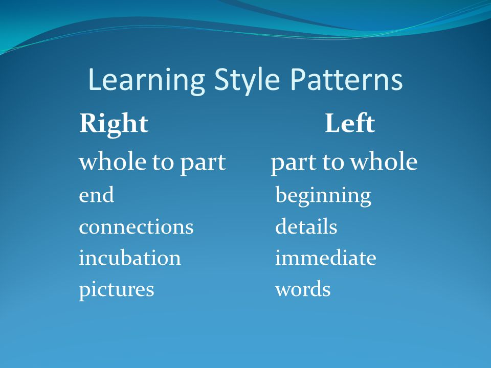 Learning Style Patterns