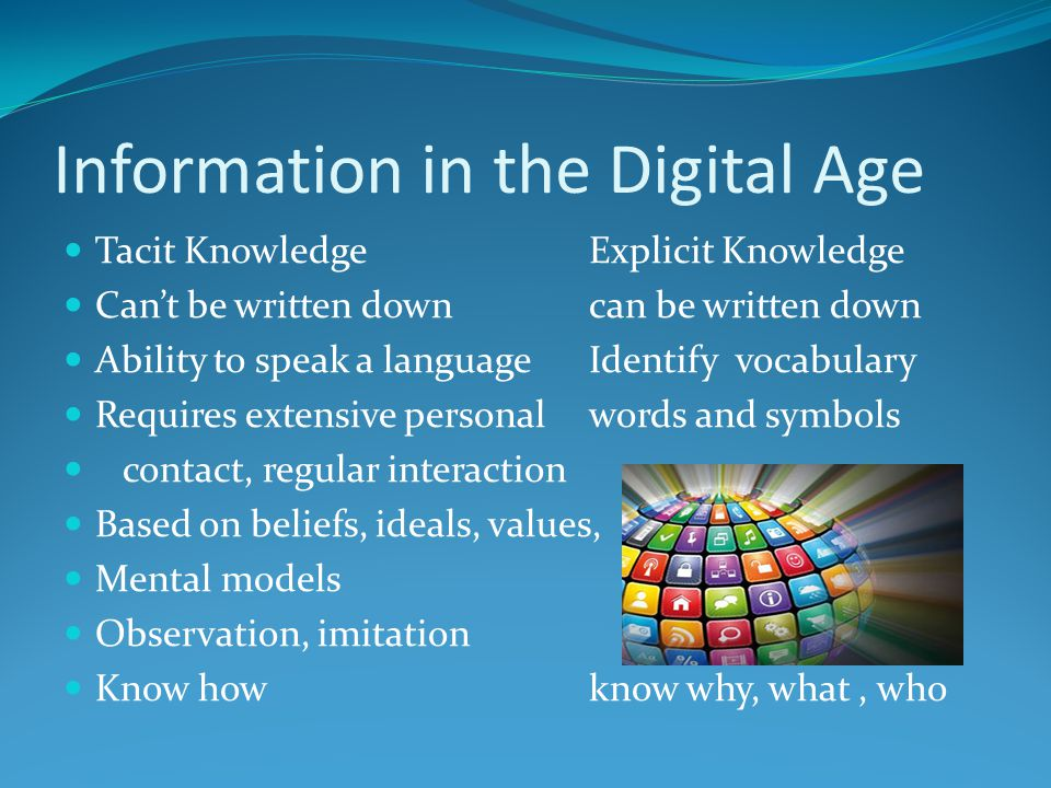 Information in the Digital Age