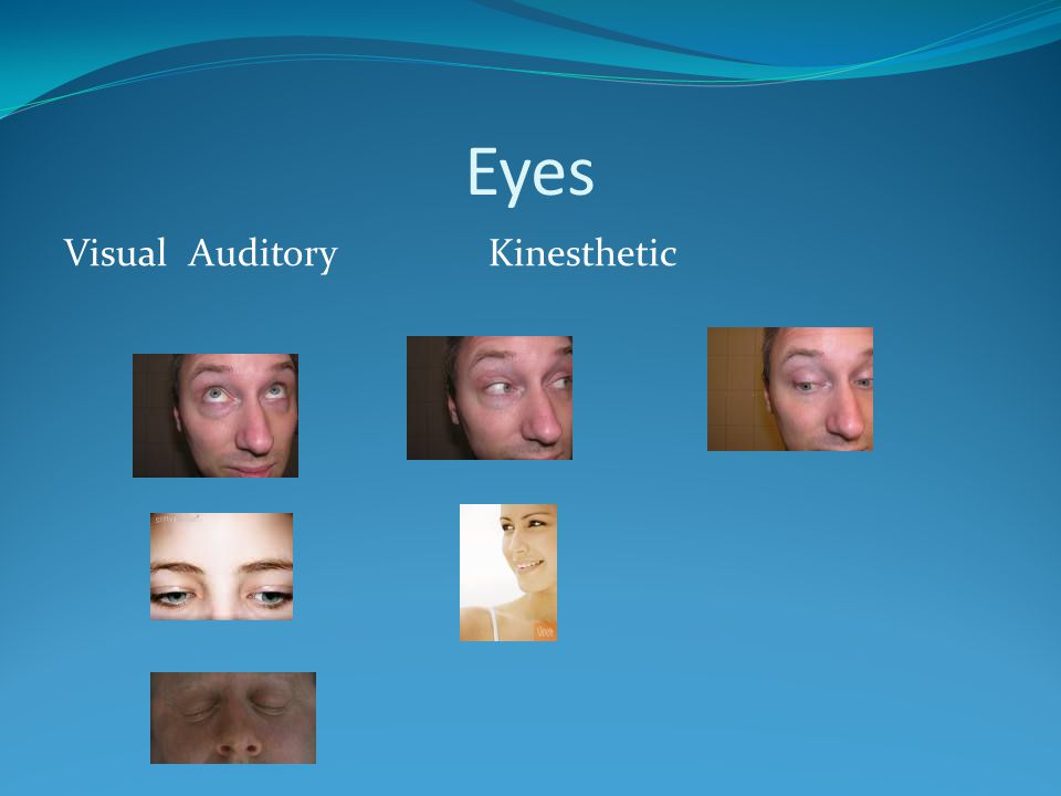 Eyes Visual Auditory Kinesthetic