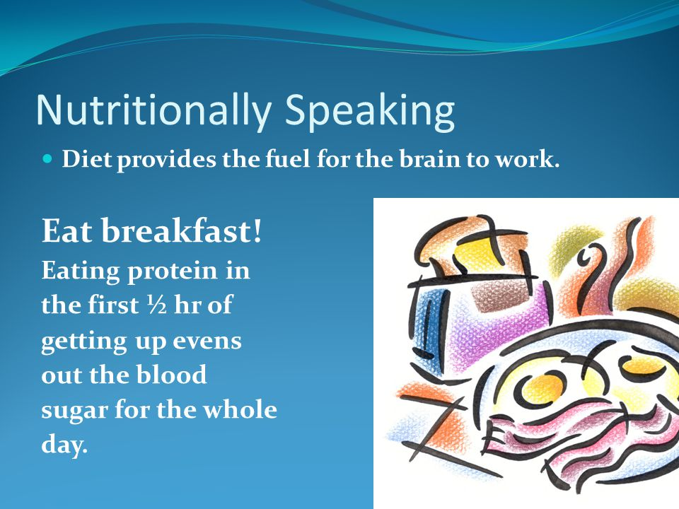 Nutritionally Speaking