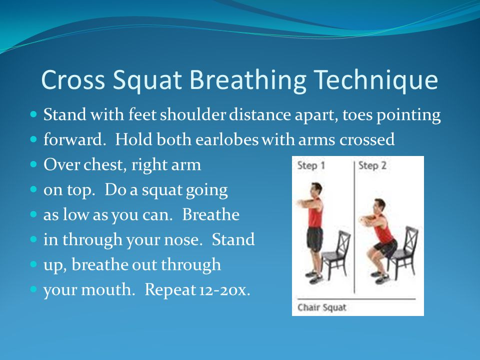 Cross Squat Breathing Technique