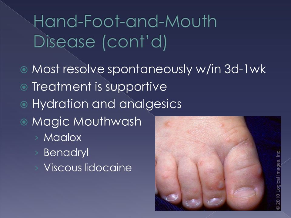 Hand-Foot-and-Mouth Disease (cont'd)