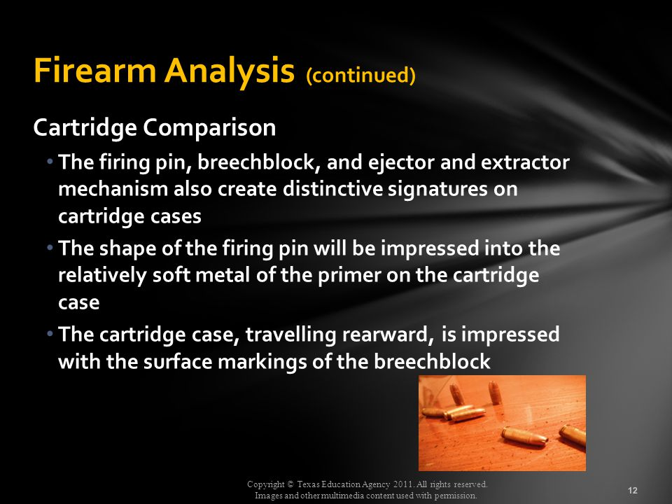 Firearm Analysis (continued)