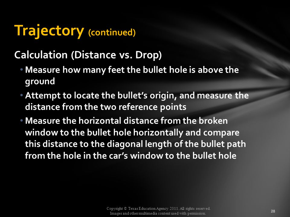 Trajectory (continued)
