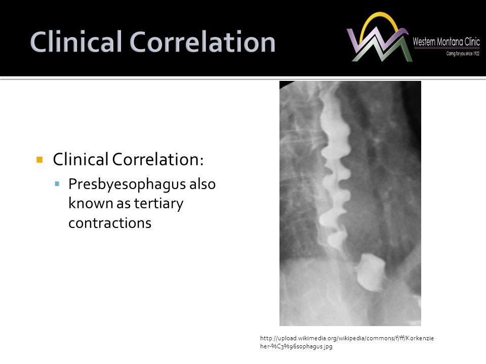 Clinical Correlation Clinical Correlation: