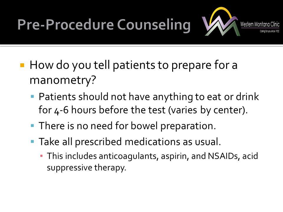 Pre-Pr0cedure Counseling