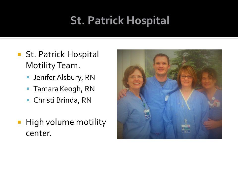 St. Patrick Hospital St. Patrick Hospital Motility Team.