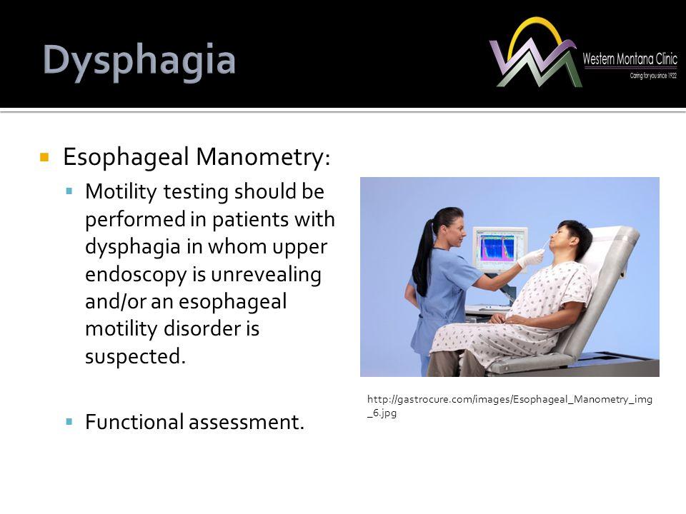 Dysphagia Esophageal Manometry: