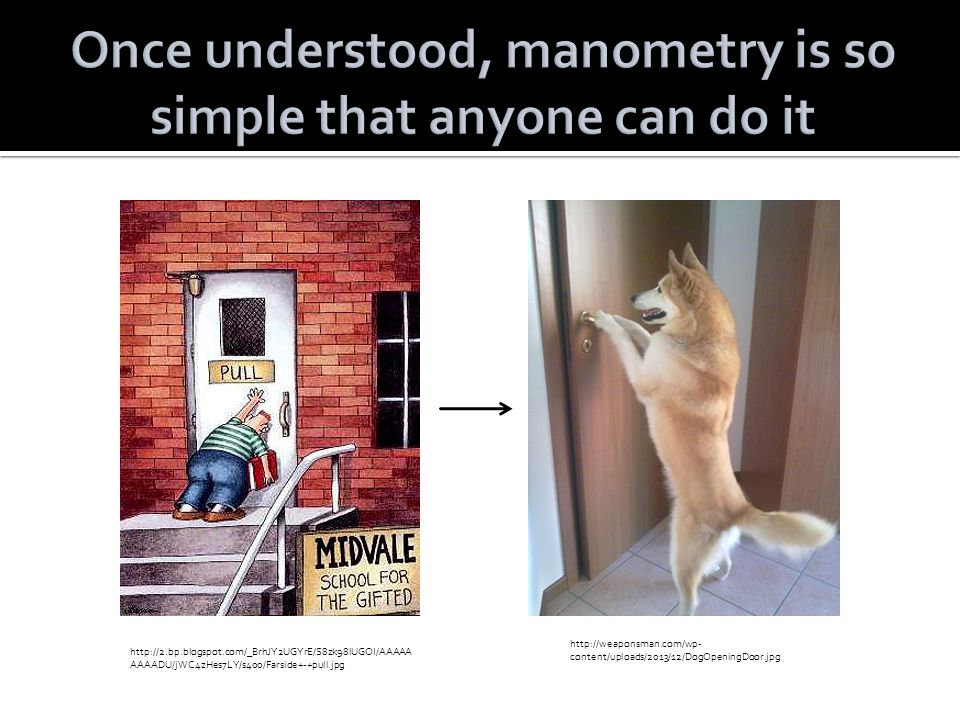 Once understood, manometry is so simple that anyone can do it