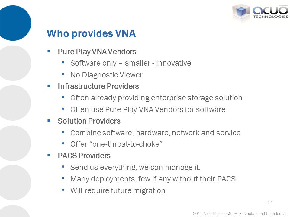 Who provides VNA Pure Play VNA Vendors