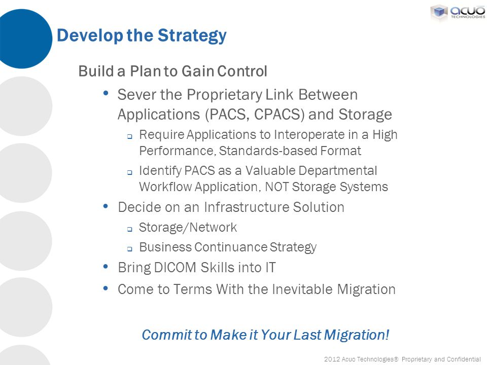 Commit to Make it Your Last Migration!