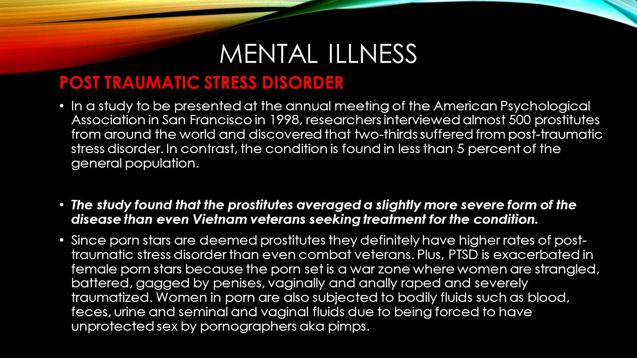 MENTAL ILLNESS POST TRAUMATIC STRESS DISORDER