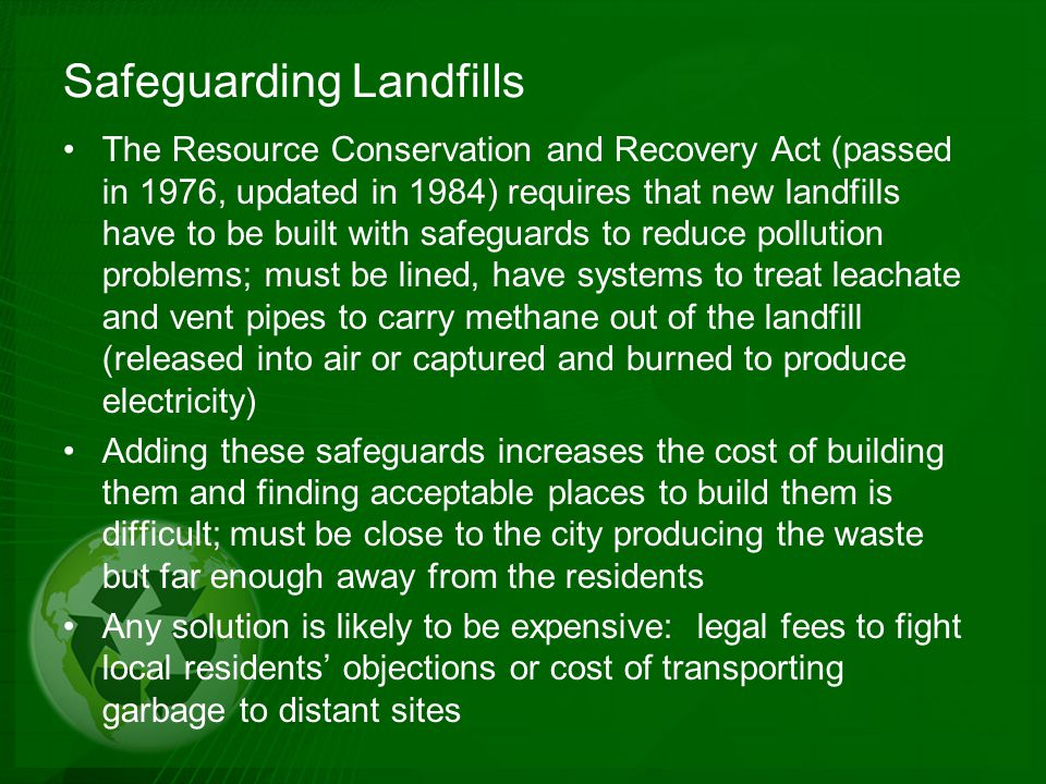 Safeguarding Landfills