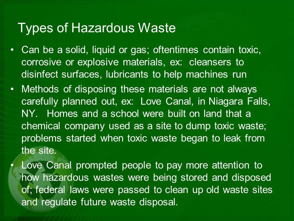 Types of Hazardous Waste