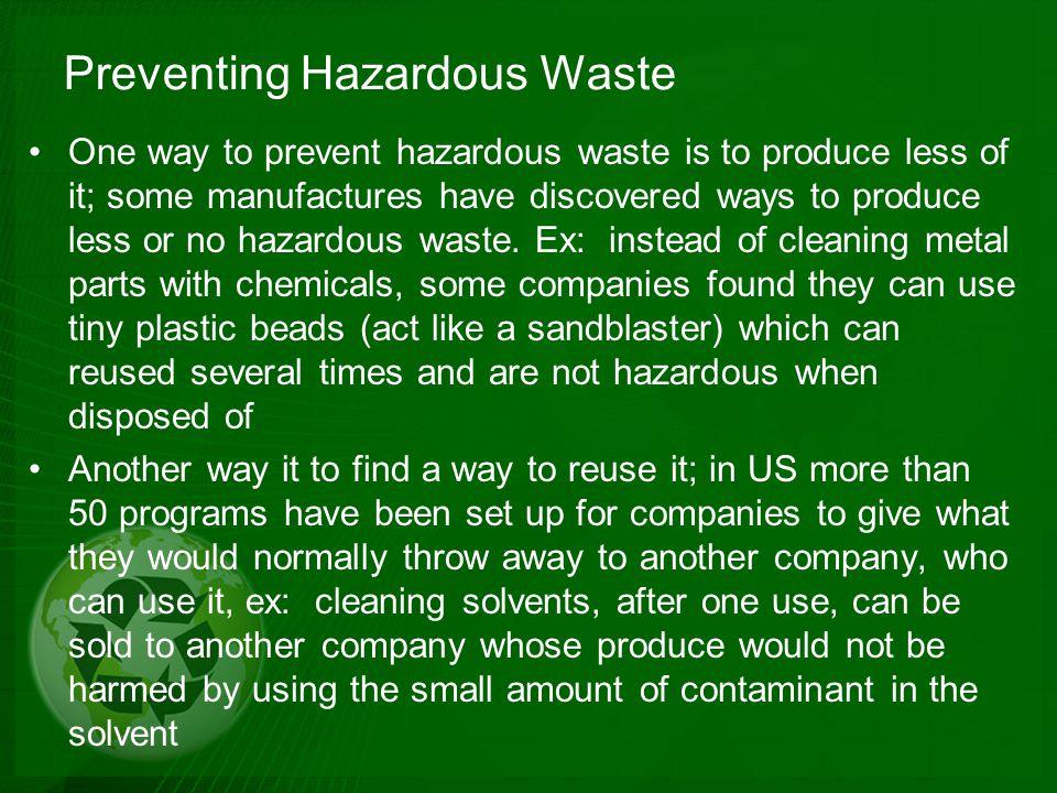 Preventing Hazardous Waste