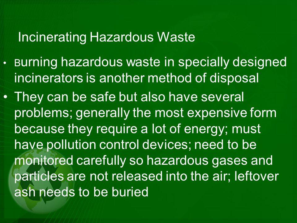 Incinerating Hazardous Waste