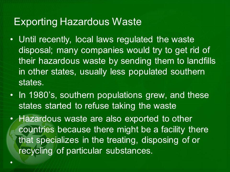 Exporting Hazardous Waste