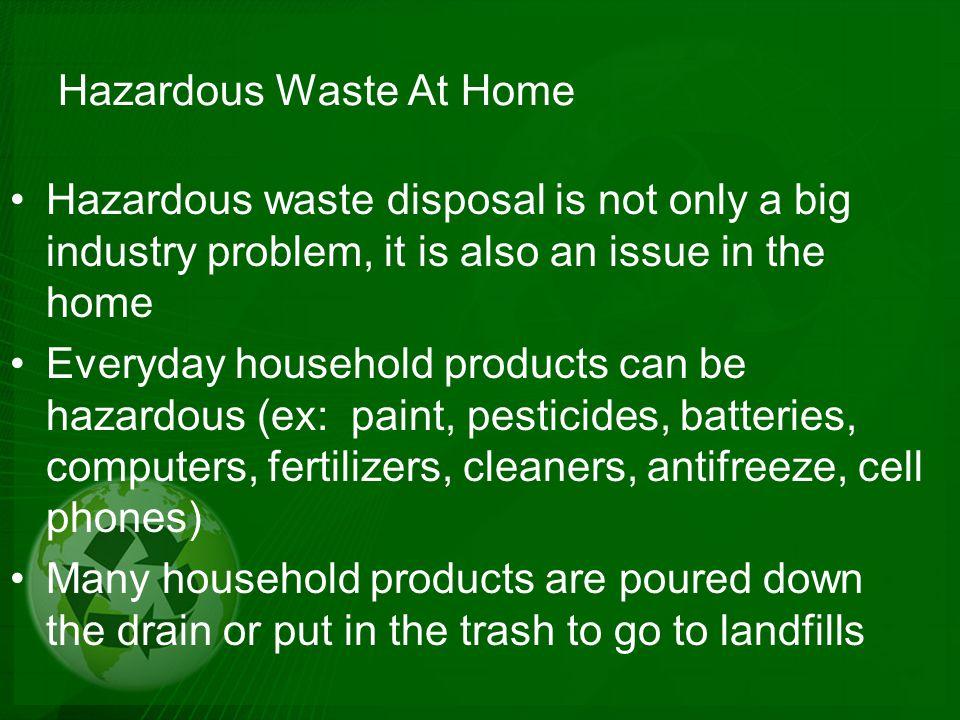 Hazardous Waste At Home