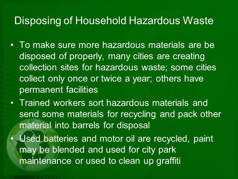 Disposing of Household Hazardous Waste