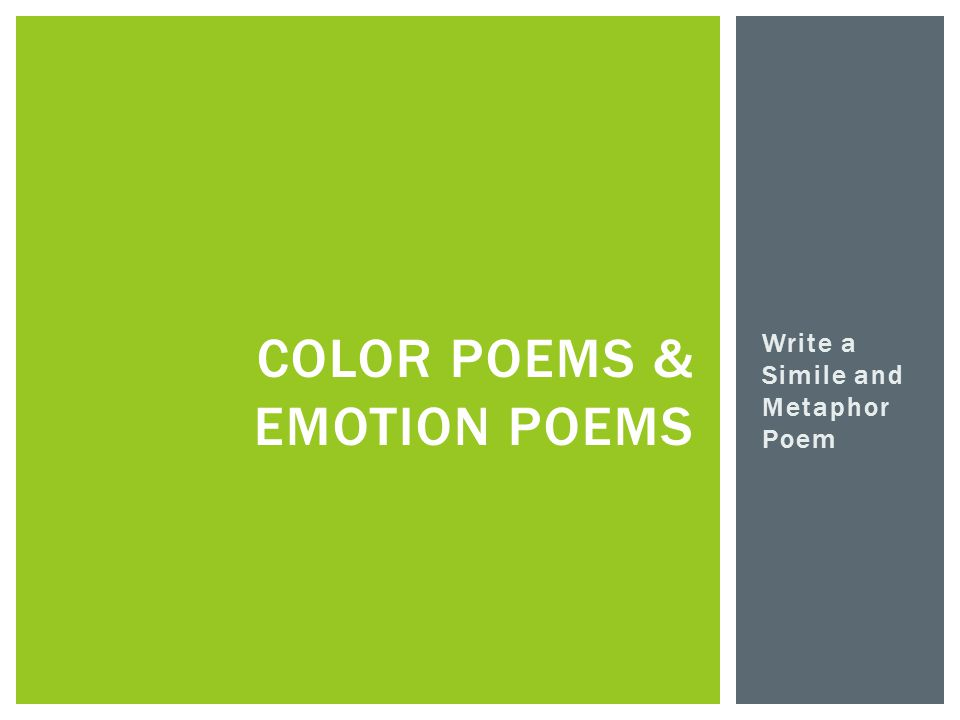 Color Poems & Emotion POems
