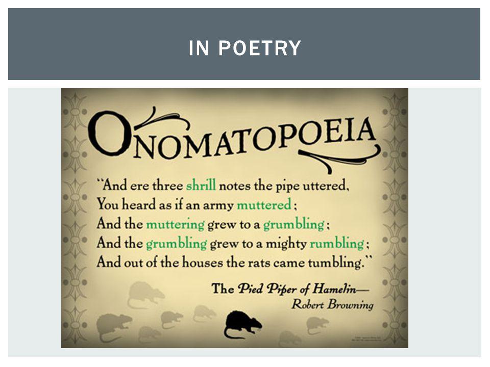 in poetry