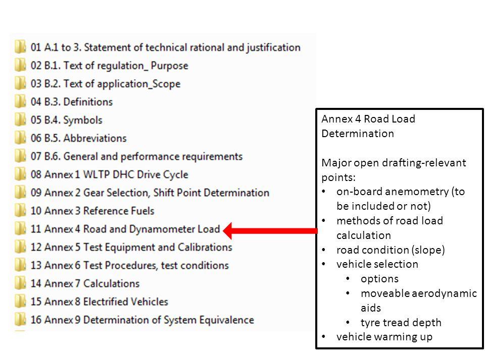 Annex 4 Road Load Determination