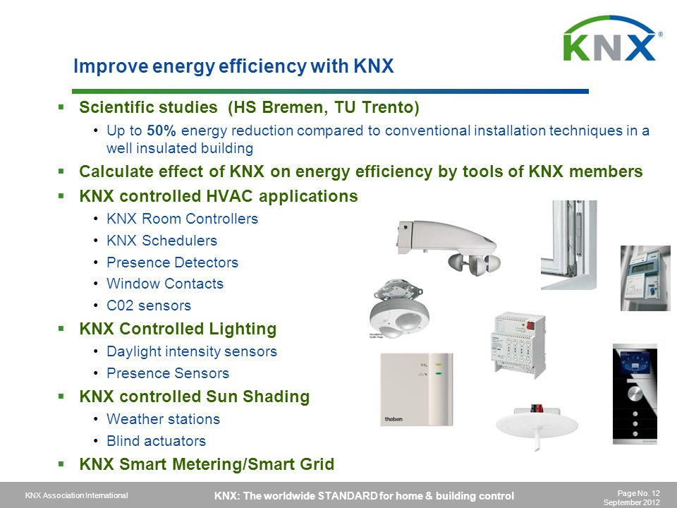 Improve energy efficiency with KNX
