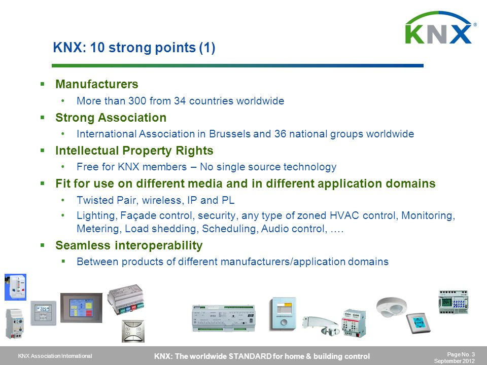 KNX: 10 strong points (1) Manufacturers Strong Association