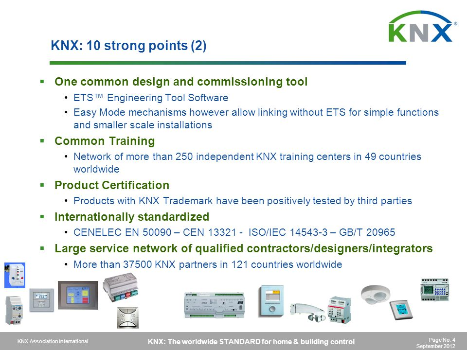 KNX: 10 strong points (2) One common design and commissioning tool